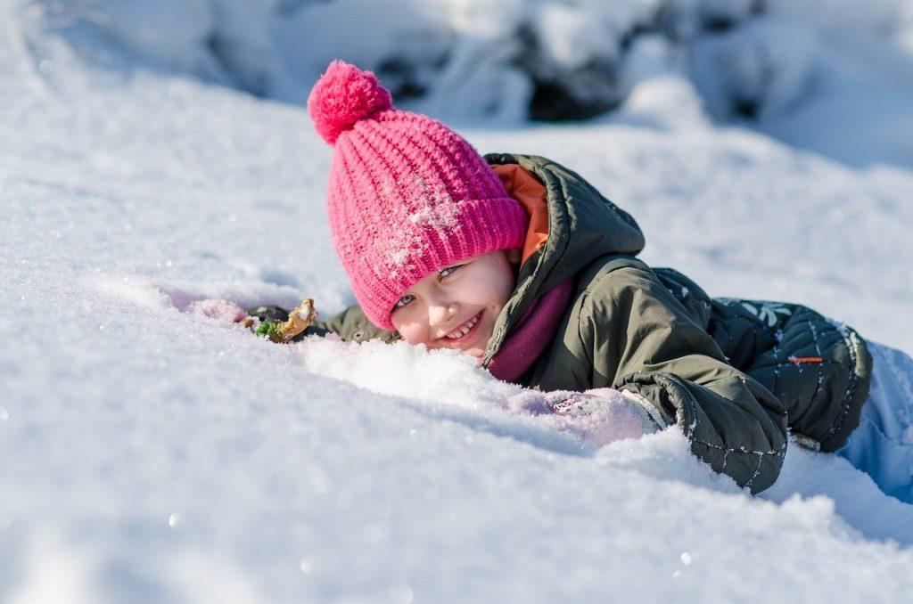 giocare con la neve Marche