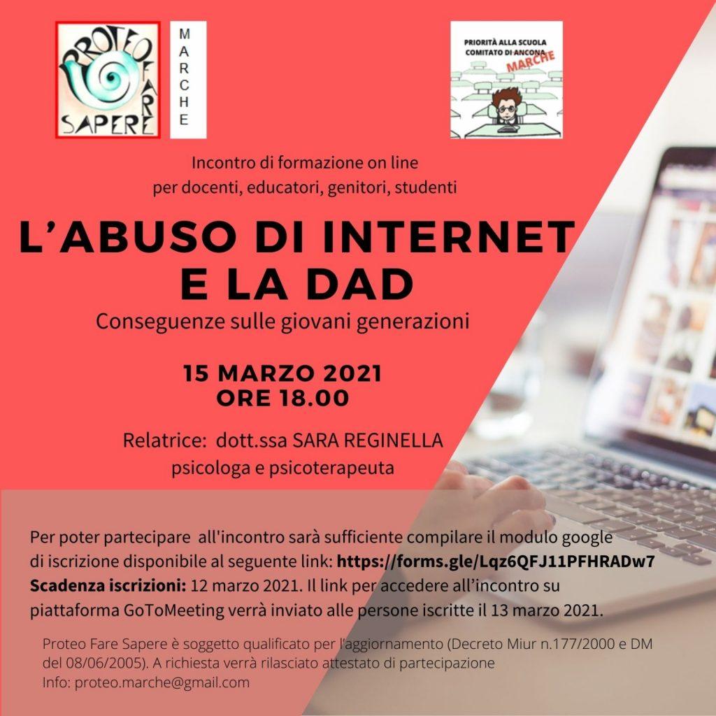abuso di internet e dad priorità alla scuola marche
