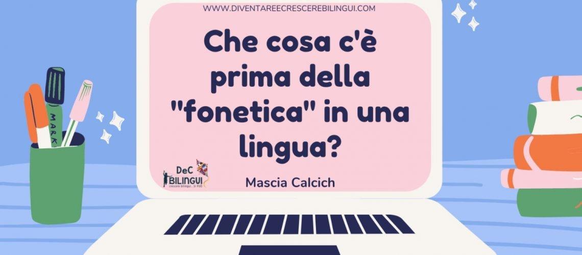 cosa c'è prima della fonetica in una lingua? webinar