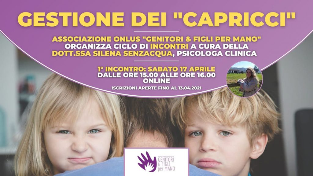 gestione capricci dei bambini locandina