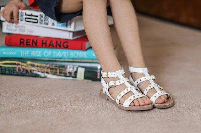 sandali bianchi dianetti