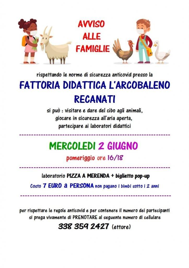 2 giugno con i bambini nelle marche fattoria didattica arcobaleno recanati
