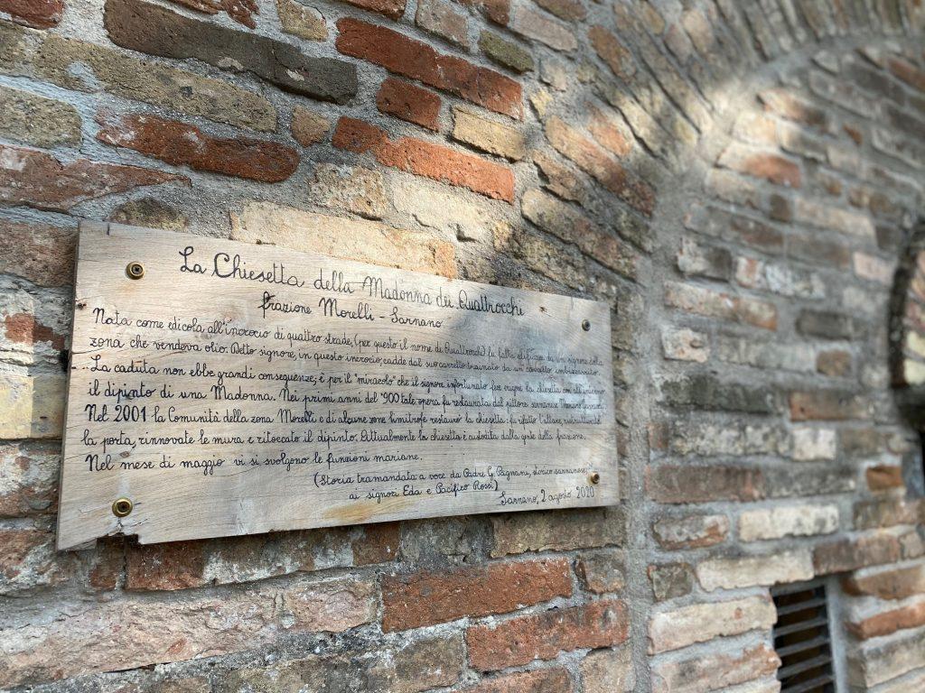 Chiesetta della Madonna dei quattrocchi, via delle Cascate perdute a Sarnano
