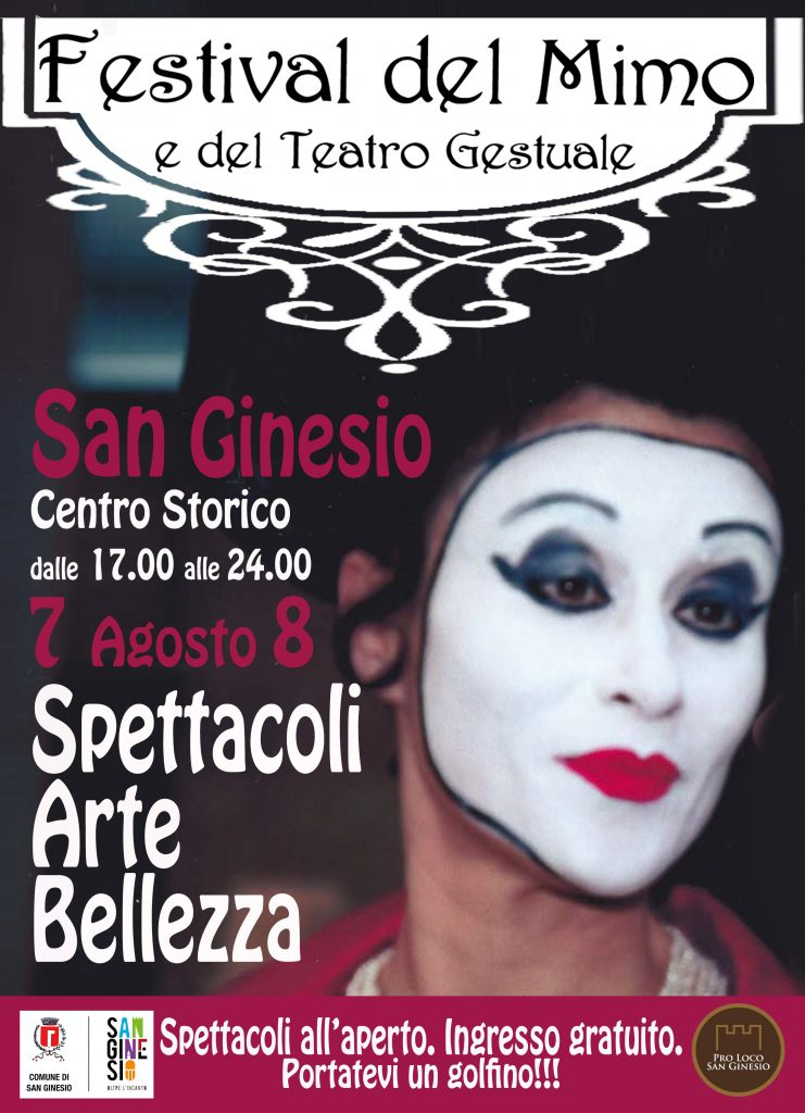 festival del mimo e del teatro gestuale edizione 2021 locandina