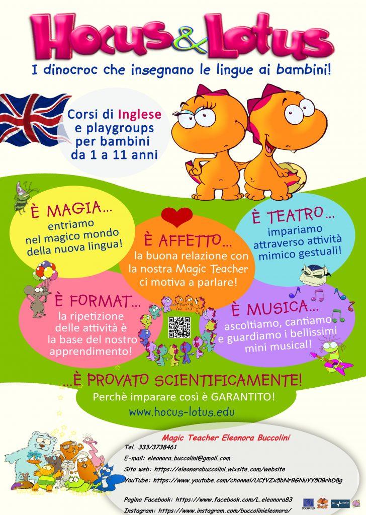 corsi di lingue per bambini locandina provincia di macerata
