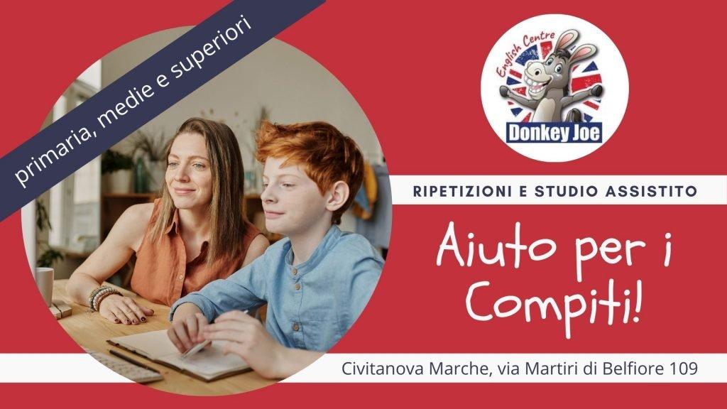 servizio di ripetizioni, aiuto compiti, sostegno allo studio a Civitanova Marche locandina